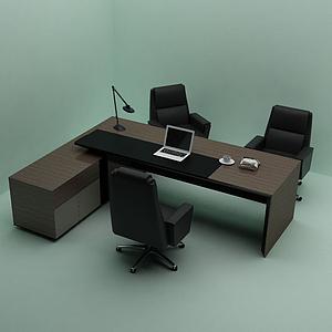 3d老板<font class='myIsRed'>辦公桌</font>經理模型