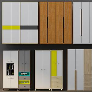 3d衣柜组合模型