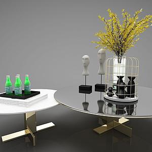 3d現代風格茶幾模型