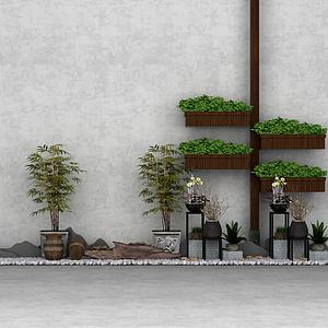 3d盆景假山<font class='myIsRed'>鹅卵石</font>花园园艺模型