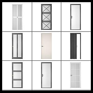 3d各式門模型