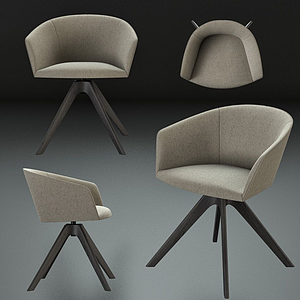 現代椅子單椅模型