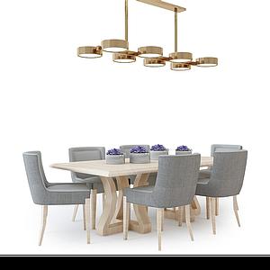 3d現代<font class='myIsRed'>餐桌</font>椅模型
