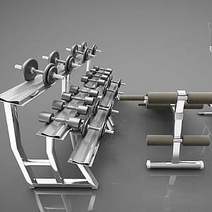 健身房健身器材模型