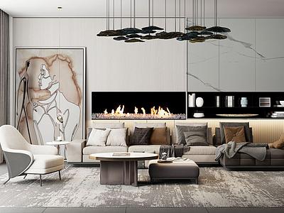 意大利米洛提現代沙發茶桌模型3d模型