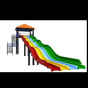 3d彩虹<font class='myIsRed'>滑梯</font>模型