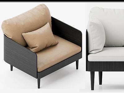 現代雙人沙發模型3d模型