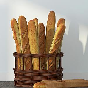 法式面包模型