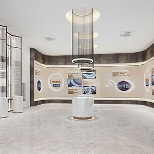 現代展廳模型