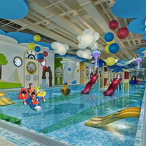 儿童游泳池3d模型