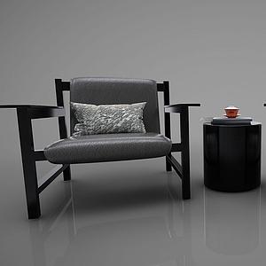 3d單人沙發模型