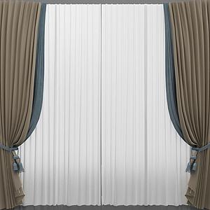 簡約窗簾模型