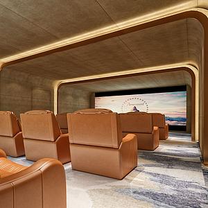 3d影视厅私人影院模型