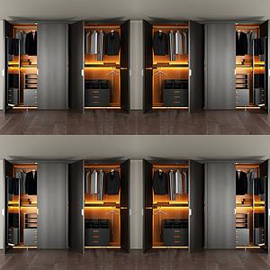 3d现代衣柜模型