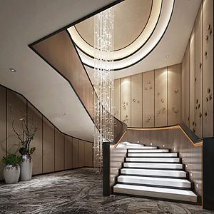 3d酒店樓梯模型