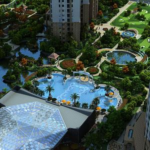 3d中式住宅模型