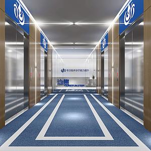 3d醫院前臺模型