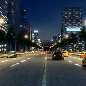 3d商業街模型