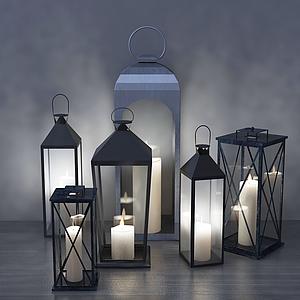 美式蠟燭燈模型