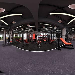 健身房全景模型