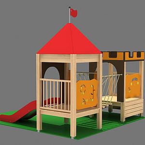 城堡滑梯模型