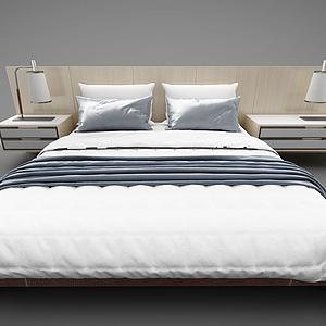 3d床头柜台灯组合模型