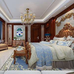 3d欧式卧室模型