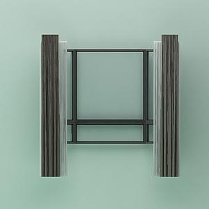 窗戶窗簾模型
