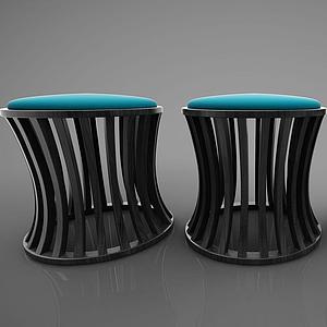 新中式風格凳子模型