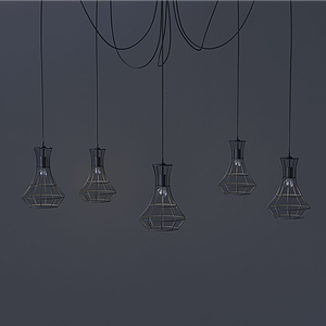現代蜘蛛腳式吊燈模型