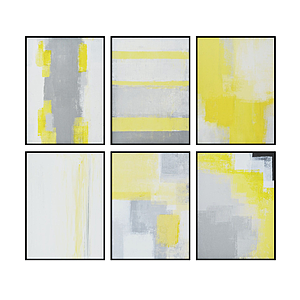 3d現代水彩畫黃色系模型