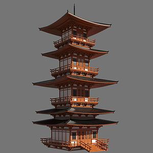 3d木塔模型