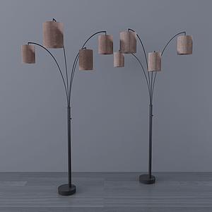 現代落地燈模型