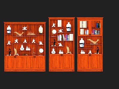 3d中式組合柜模型