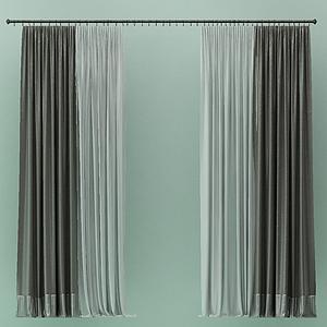 窗簾紗簾模型