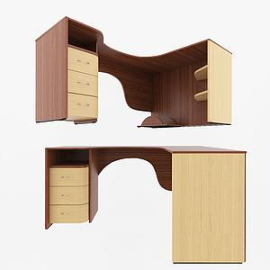 現代辦公桌模型