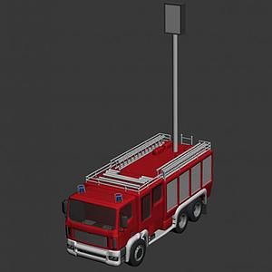 3d消防照明車模型