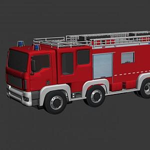 3d消防供水車模型
