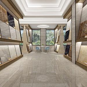 3d瓷砖展厅模型