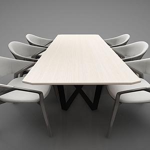 3d餐桌组合模型