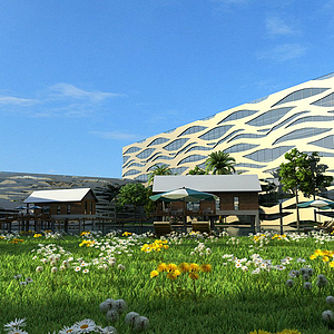 3d體育館模型