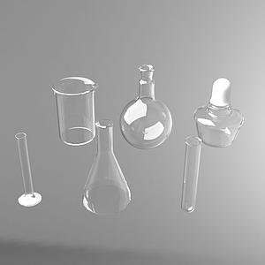 實驗工具燒杯量杯模型