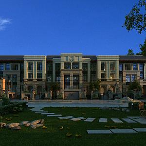3d酒店模型
