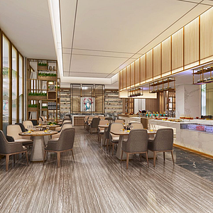 3d现代餐厅模型