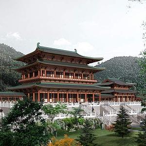 3d寺廟模型