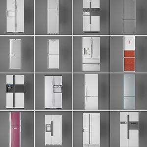 現代冰箱組合模型