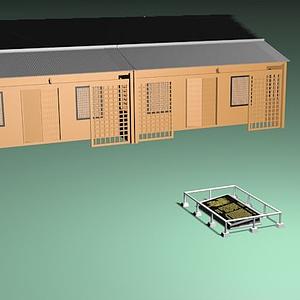 3d姓氏卧碑景区建筑模型