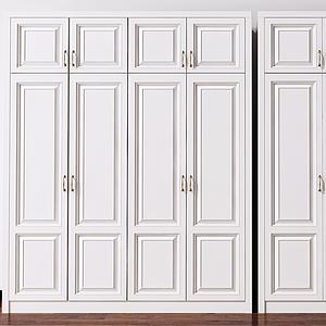 3d欧式双开门衣柜模型