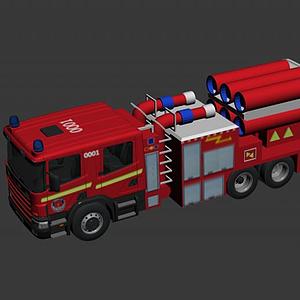 3d消防排煙車模型