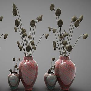 3d現代<font class='myIsRed'>花瓶</font>擺件模型